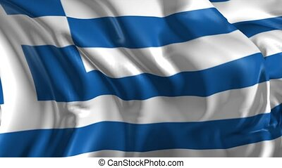 Flag of Greece - Beautiful 3d animation of Greece flag in...