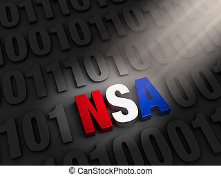 Shinning a Light NSA Cyber Spying - A spotlight illuminates...