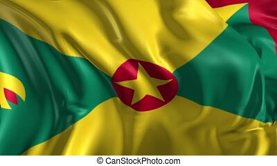 Flag of Grenada - Beautiful 3d animation of Grenada flag in...