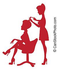 em, cabeleireiras