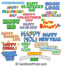 Festival Decoration - easy to edit vector illustration of...