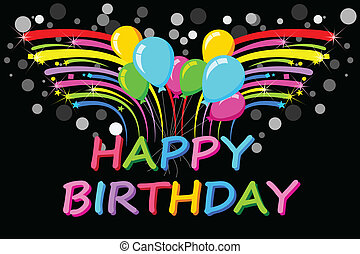 Happy Birthday Background - easy to edit vector illustration...