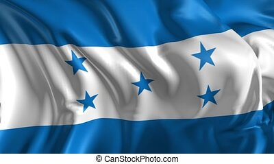Flag of Honduras - Beautiful 3d animation of Honduras flag...
