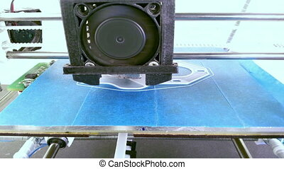 3D Printing - Printing with Plastic Wire Filament on 3D...