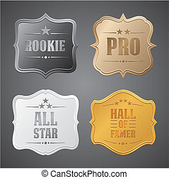 rookie, pro, all star, hall of fame - suitable for user...