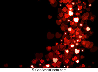 Valentine's, day, red, hearts, background