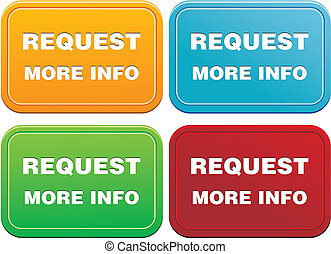 request more info button - suitable for user interface