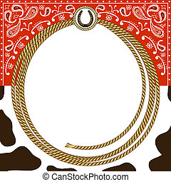 Cowboy card background - cowboy card background with rope...