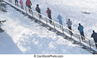 Ski lift to the top of the mountain