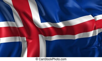 Flag of Iceland - Beautiful 3d animation of Iceland flag in...