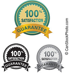 100 percent satisfaction badge