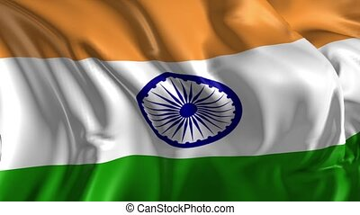 Flag of India - Beautiful 3d animation of India flag in loop...