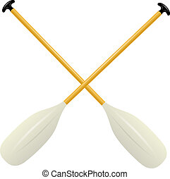 Two oars for canoe