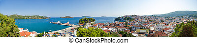 Tropical island panorama view - Island of Skiathos in Greece...