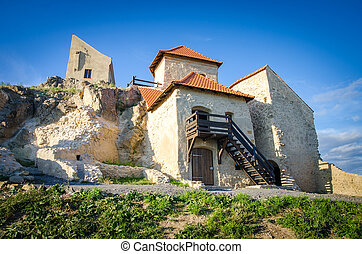 Old historic fortress of rupea rstaurated in romania transylvania region