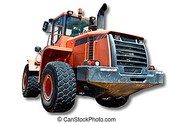Tractor - A huge four wheel tractor used for hauling loads