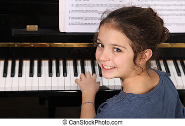 鋼琴, 課