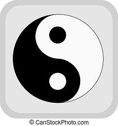 Yin yang.  - Yin yang symbol.