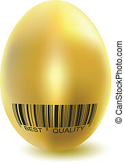 golden chicken eggs - Illustration golden chicken eggs...