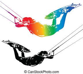 kite - Illustration rider isolated on white background....