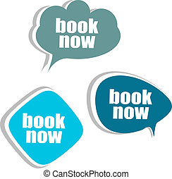 book now. Set of stickers, labels, tags. Business banners,...
