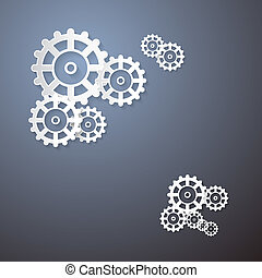 Abstract Cogs, Wheels Paper Background