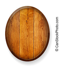Realistic wooden round board. Vector illustration.