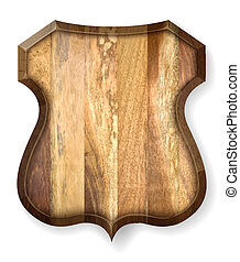 Realistic wooden board. Vector illustration.