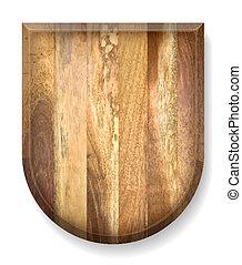 Realistic wooden  board.