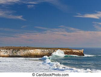 Waves Crashing Ashore at Wilder State Beach