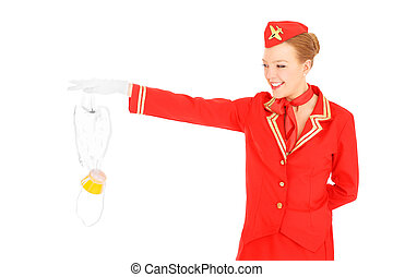 Oxygen mask - A picture of an attractive stewardess...