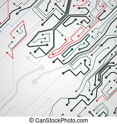Circuit board background.