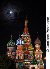 Moscow Kremlin - View of the Moscow Kremlin at night