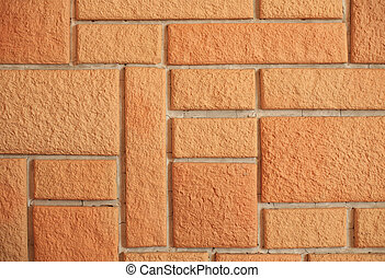 background decorative bricklaying on wall inside