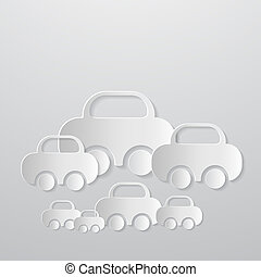 Abstract Vector Cars Made From Paper