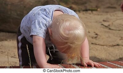 Baby Playing On Playground (People) - Baby Playing On...