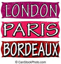 London Paris and Bordeaux