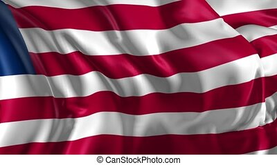 Flag of Liberia - Beautiful 3d animation of the Liberia flag...
