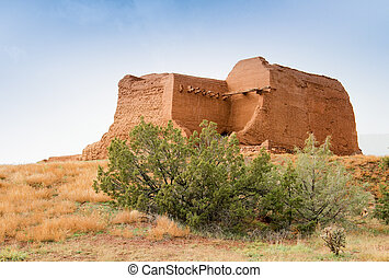 decaying ancient adobe mission - decaying ancient adobe...