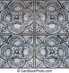 old ornamental tile