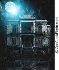 spooky old house  - Old and spooky old house