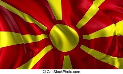 Flag of Macedonia - Beautiful 3d animation of the Macedonia...
