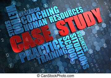 Case Study Wordcloud Concept - Case Study - Wordcloud...