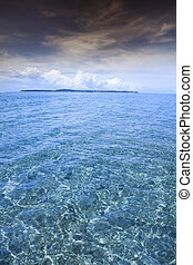 Island of Gili Air, Indonesia - Sea and coastlines of Gili...
