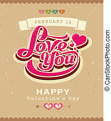 Valentine message classic banner - Happy Valentine message...