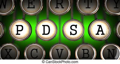 PDSA on Old Typewriter's Keys. - PDSA - Plan-Do-Study-Act -...