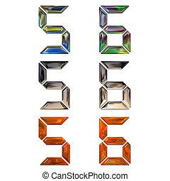 stock illustrationen von ziffern satz metall 3d satz von 3d metall ziffern. Black Bedroom Furniture Sets. Home Design Ideas