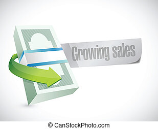 growing sales sign illustration design