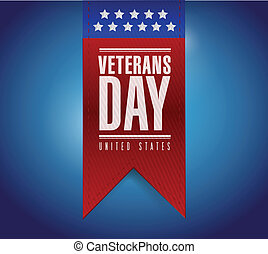 veterans day banner illustration design over a blue...