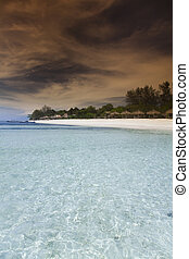 Tropical island of Gili Air, Indonesia